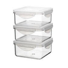 Tritan 6-Piece Stacked Square Container Set with Sealed Lid