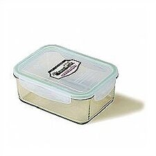 Go Green 64-oz.. Rectangular Glass Food Storage Container
