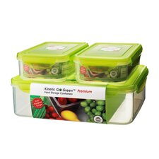 6-Piece Rectangular Plastic Food Storage Container Set with Sealed Lid