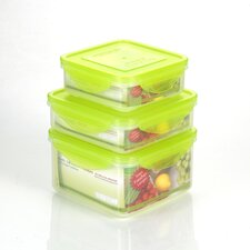<strong>Kinetic</strong> Premium 6 Piece Square Sandwich Food Storage Container Set