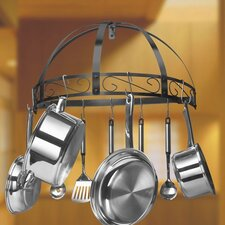 Wrought Iron Wall Half Round Pot Rack