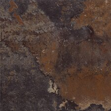 "DuraCeramic  Rustic Stone 15"" x 15"" Vinyl Tile in Black Earth"