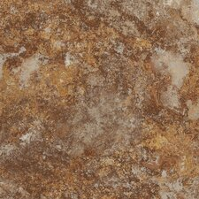 "DuraCeramic Rapolano 15.63"" x 15.63"" Vinyl Tile in Terra Brown"