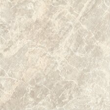 "<strong>Congoleum</strong> DuraCeramic Pacific Marble 15"" x 15"" Vinyl Tile in Light Greige"