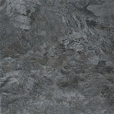 "<strong>Congoleum</strong> DuraCeramic Dreamscape 15.63"" x 15.63"" Vinyl Tile in Midnight Gray"