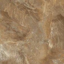 "DuraCeramic Village Slate 15.63"" x 15.63"" Vinyl Tile in Tiger Eye"