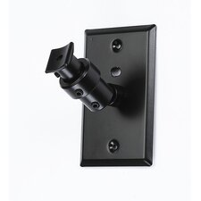 <strong>Pinpoint Mounts</strong> Universal Speaker Wall Ceiling Mount with Electrical Box Installation Adapter Plate in Black