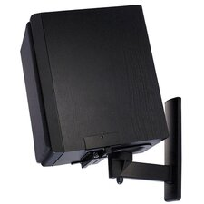 Side Clamping Bookshelf Speaker Wall Mount Pair in Black