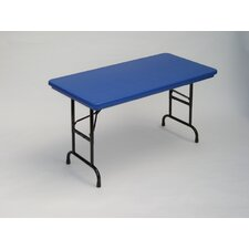 <strong>Correll, Inc.</strong> Bright Color Plastic Folding Table with Adjustable Legs