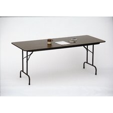 Melamine Top Folding Table in Walnut Finish
