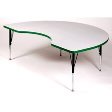 <strong>Correll, Inc.</strong> Kidney Activity Table with Grey Granite Top