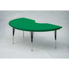 Kidney Shaped Plastic Activity Table with Short Legs