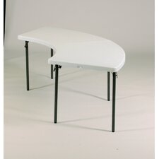 "<strong>Correll, Inc.</strong> 96"" W x 30"" D Serpentine Folding Table"