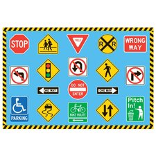 Fun Time Traffic Signs Kids Rug