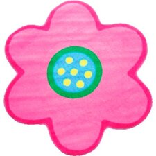 Fun Time Shape Poppy Light Pink Kids Rug