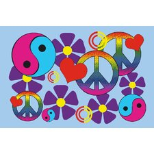 Fun Time Lovely Peace Kids Rug
