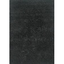 Black Shag Kids Rug