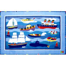 Olive Kids Boats and Bouys Kids Rug