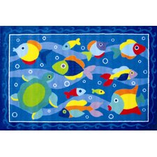<strong>Fun Rugs</strong> Olive Kids Somethin' Fishy Fish Kids Rug