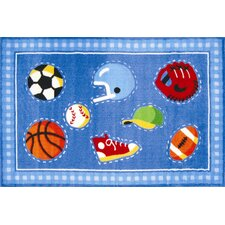 <strong>Fun Rugs</strong> Olive Kids Go Team! Sports Kids Rug