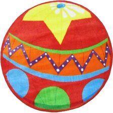 Fun Shape High Pile Circus Ball Kids Rug