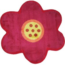 Fun Shape Medium Pile Flower Kids Rug