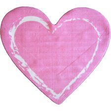 Fun Shape Medium Pile Heart Kids Rug