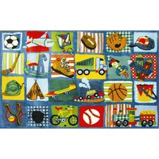 <strong>Fun Rugs</strong> Supreme Funky Patchwork Boys Kids Rug