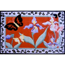 Jade Reynolds Irises Flower Kids Rug