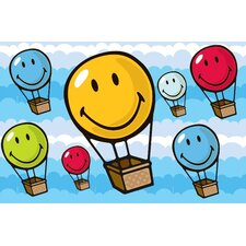 <strong>Fun Rugs</strong> Smiley World Hot Air Balloon Kids Rug