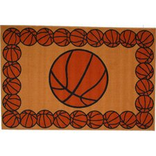 Fun Time Basketball Time Kids Rug