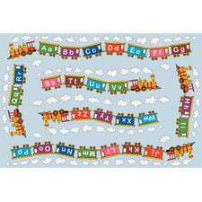 <strong>Fun Rugs</strong> Fun Time Edu Train Kids Rug