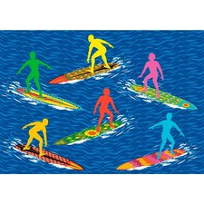 Surf Time Surfs R Us Kids Rug