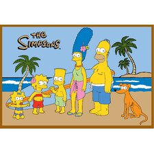 The Simpsons At The Beach Kids Rug