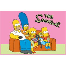 <strong>Fun Rugs</strong> The Simpsons Family Portrait Kids Rug