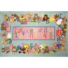 Supreme Teddies and Letters Alphabet Kids Rug