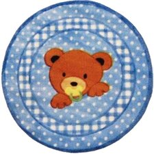 Supreme Teddy Center Blue Bear Kids Rug