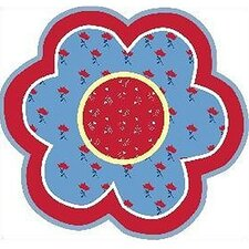 Fun Shape High Pile Bandana Flower Kids Rug