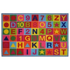 Fun Time Alphanumeric Fun Kids Rug