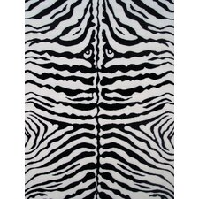 Fun Time White Zebra Skin Kids Rug