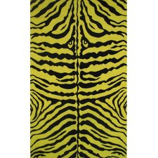 Fun Time Yellow Zebra Skin Kids Rug