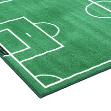 Fun Time Soccer Field Sports Kids Rug