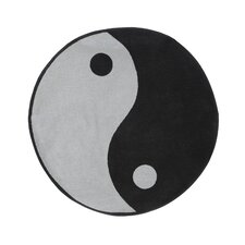 Fun Shape High Pile Ying Yang Kids Rug