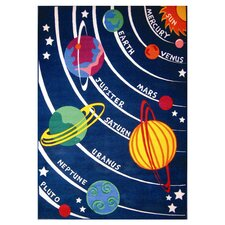 Fun Time Solar System Classroom Area Rug