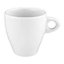 Becher Coffe-e-Motion in Weiß mit Henkel