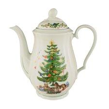 """1,35L Kaffeekanne """"Marie-Luise"""" aus Porzellan in Weihnachten-Dekor"""