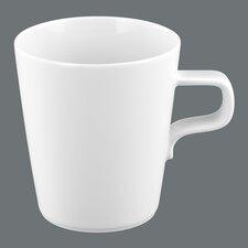 """0,37L Milchkaffeetasse """"No Limits"""" aus Porzellan in Weiß"""