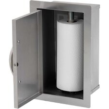 "10.5"" BBQ Built-In Paper Towel Storage Bin"