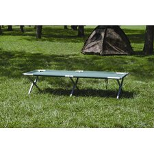 Deluxe Folding Camp Cot in Forest Green