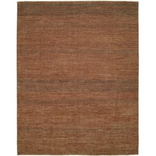 Illusions Rust/Dark Green Rug
